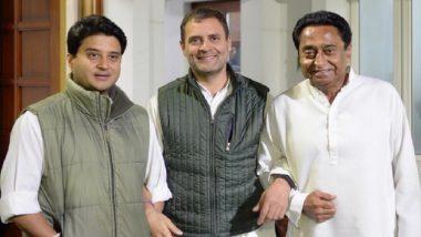 Madhya Pradesh CM Race: Rahul Gandhi Signals Cohesion, Tweets Photo With Kamal Nath, Jyotiraditya Scindia