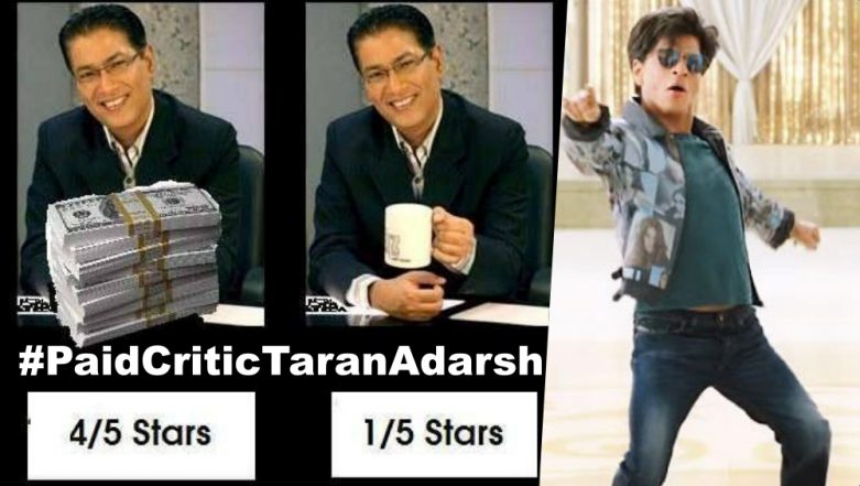 #PaidCriticTaranAdarsh Trends on Twitter As 'Zero' Fans Give Positive Reviews and Trolls Movie Critic for Giving Poor Ratings to SRK Film