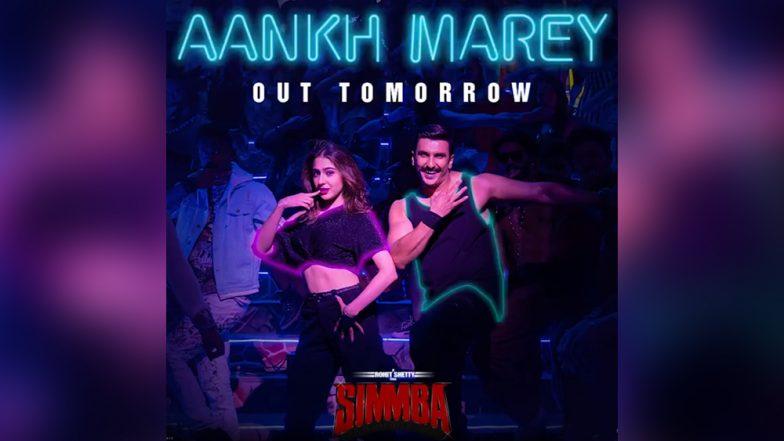 Simmba Song Aankh Marey Teaser: Watch Ranveer Singh and Sara Ali Khan Dance to the Hit '90s Number Tomorrow