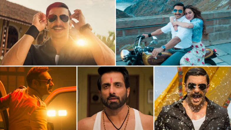 Simmba Trailer: Ranveer Singh and Sara Ali Khan's Cop Film Gives Off Major Singham Blues, With a Spoilerish Ajay Devgn Cameo Thrown In Too - Watch Video