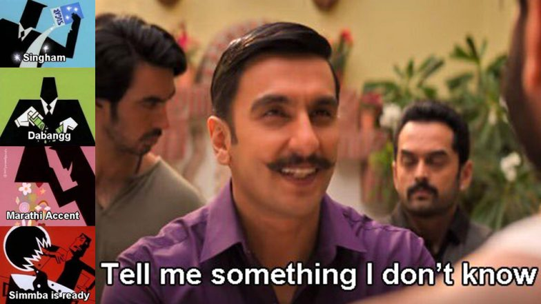 Simmba: Funny Memes on Ranveer Singh-Rohit Shetty's Action Film are More Entertaining Than Trailer!