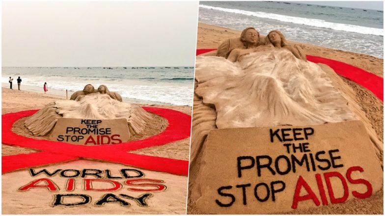 World Aids Day 2018: Sudarsan Pattnaik's Beautiful Sandart Gives an Important Message to 'Stop Aids'