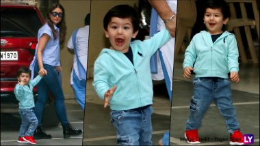 These New Pics of Taimur Ali Khan Shouting in Joy Are Giving All the Friday Feels