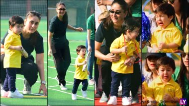 Taimur Ali Khan With Mum Kareena Kapoor Khan at Sports Day: From Running in Joy to Tears Rolling Down His Cheek, See 14 Pics of Baby Tim!