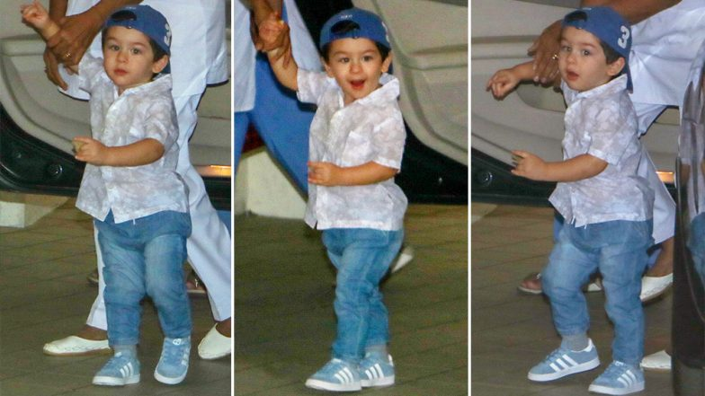 Taimur Ali Khan Looks So Cute in a Cap That He Can Easily Feature In an Ad for Kids Clothing! (View Pics)