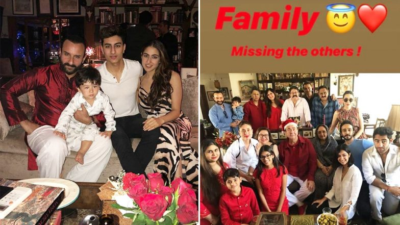 Taimur Ali Khan Looks Cutest of All as He Celebrates Christmas 2018 With Kapoors and Pataudis! (View Pics)