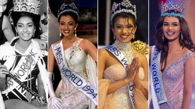 Miss World Winners From India: Know List of Beauty Queens From Priyanka Chopra to Manushi Chhillar Who Won Prestigious Crown Ahead of 2018 Competition