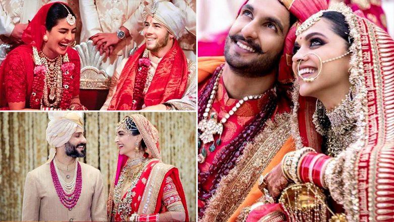 Priyanka Chopra, Deepika Padukone, Sonam Kapoor - Meet the Happy Brides of 2018