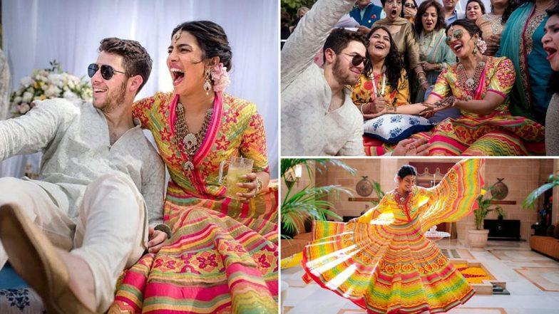 Priyanka Chopra and Nick Jonas' Mehendi Ceremony Pics OUT: Couple Looks Radiant As They Celebrate the Ritual With Colours and Laughter