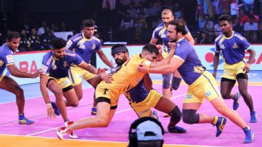 Telugu Titans vs UP Yoddha, PKL 2018-19, Match Live Streaming and Telecast Details: When and Where To Watch Pro Kabaddi League Season 6 Match Online on Hotstar and TV?