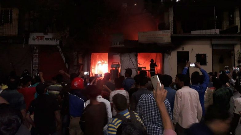 Thane: Fire Erupts at Furniture Shop Near Muchhala College, Firefighters at Spot