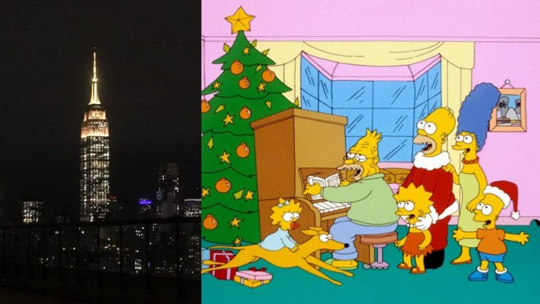 On The Simpsons' 30th Anniversary, The Empire State Building Honours The Show With Yellow Lights - View Pic