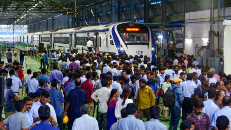 Vande Bharat Express Attacked by Miscreants, Stones Pelted During Trial Run of Train 18