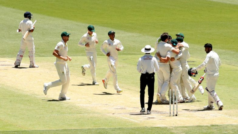 Australia set 287 runs target for India on a hard pitch