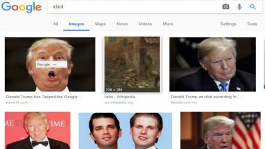 Why Googling 'Idiot' Brings Up Donald Trump Photos, Congresswoman Asks Sundar Pichai