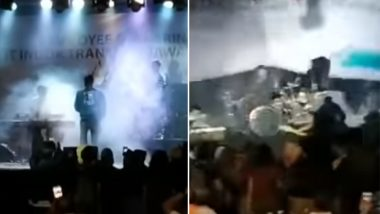 Indonesia Tsunami Video: Waves Crash Concert of Local Band Seventeen, 2 Members Dead; Watch Shocking Clip From Banten!