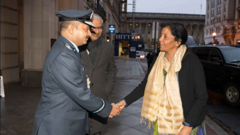 Nirmala Sitharaman Arrives in US for Bilateral Meet With Secretary of Defence James N Mattis