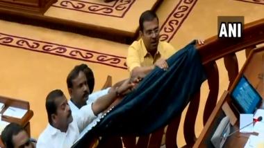 Sabarimala Temple Row: Opposition Disrupts Kerala Assembly After Verbal Spat Between CM Pinarayi Vijayan, Ramesh Chennithala