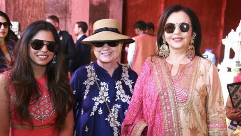 Isha Ambani-Anand Piramal Pre-Wedding Functions: Nita Ambani, Hillary Clinton and the Bride-to-Be Visit Swadesh Bazaar in Udaipur