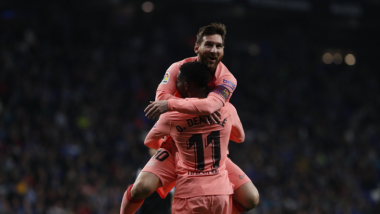 La Liga 2018–19: Lionel Messi Stars by Scoring 2 Goals, As Barcelona Beat Espanyol 4–0