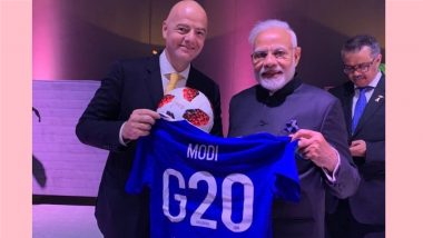 Narendra Modi Gets Custom-Made G20 Football Jersey, Writes Heart-Warming Message for Gianni Infantino