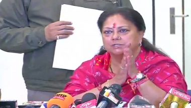 Rajasthan Assembly Elections 2018 Results: Vasundhara Raje Concedes Defeat, Submits Resignation to Governor