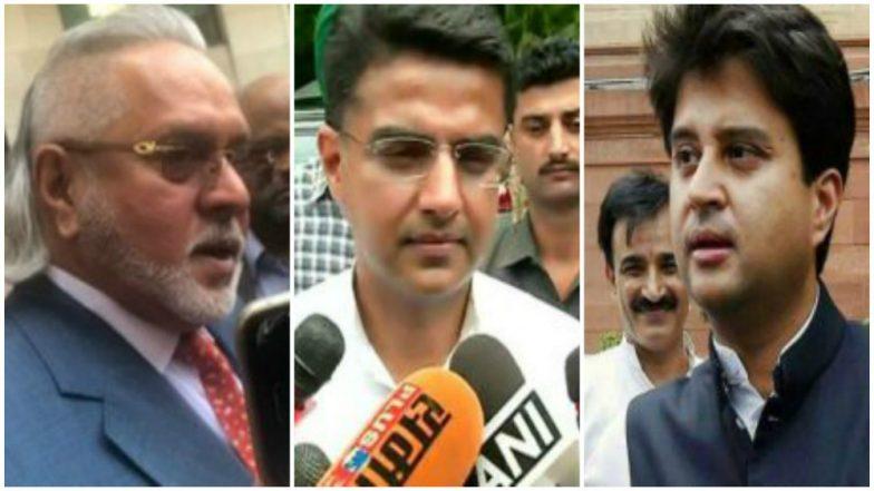 Vijay Mallya Congratulates Sachin Pilot, Jyotiraditya Scindia Over Congress's Wins in Rajasthan and Madhya Pradesh Elections 2018