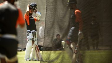Virat Kohli Practices Hard in Nets Ahead of India vs Australia 1st Test Match at the Adelaide Oval: Watch Video