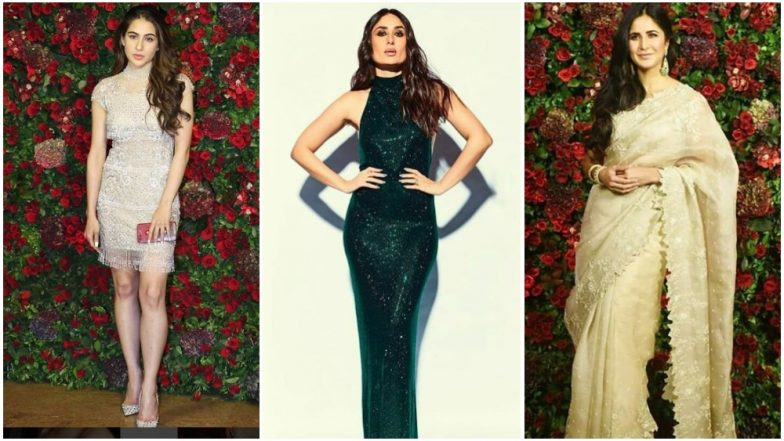 Deepika Padukone – Ranveer Singh Reception: Kareena Kapoor Khan, Katrina Kaif, Sara Ali Khan Woo Us With Their Elegant Choices for the Night – View Pics