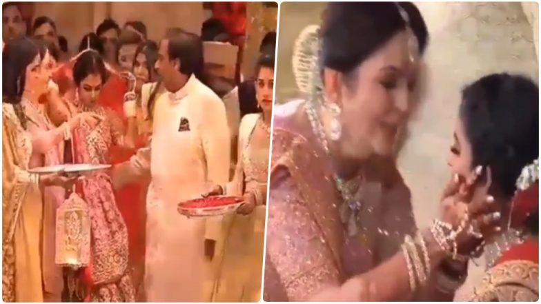 Isha Ambani's Vidaai Made Nita & Mukesh Cry: Watch Emotional Video of Ambani Family Seeing Off Their Daughter!