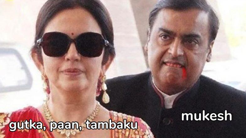 Nita and Mukesh Ambani's Funny Memes Invade The Internet: The Couple's Pic From Isha Ambani and Anand Piramal's Sangeet Go Viral!