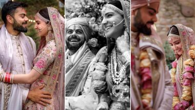Anushka Sharma and Virat Kohli 1st Anniversary: Virushka Share a Beautiful Video and Unseen Pics From Their Dreamy Wedding and It is No Less Than a Fairytale