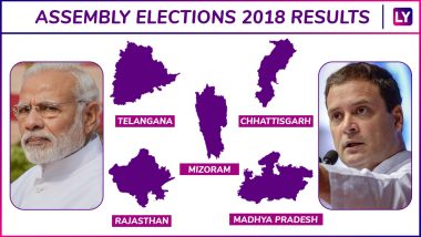 Assembly Elections 2018 Results Live News Updates: Final Tally Declared by Election Commission of India