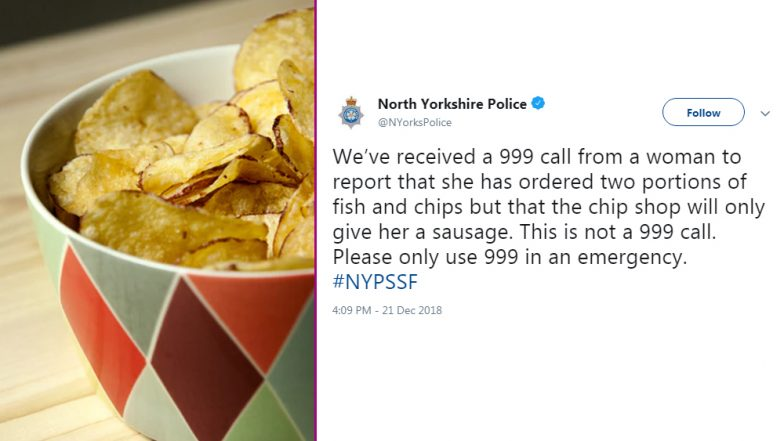 Woman Calls 999 for Receiving a Sausage Instead of Fish and Chips: New Yorkshire Police Has a Savage Response, Read Funny Reactions