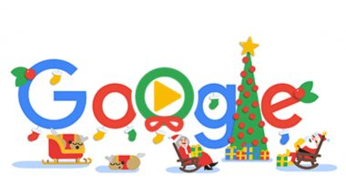 Happy Holidays and Merry Christmas 2018! Google Doodle Wishes With Animated Santa, Reindeers & Elf Greeting