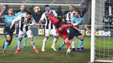 Cristiano Ronaldo's Header Saves Juventus from Losing Against Atlanta, Watch Video of the Amazing Goal