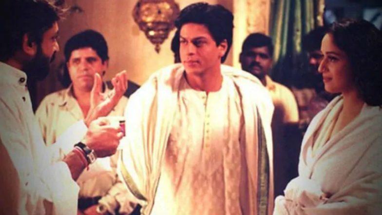 Devdas Reunion! Shah Rukh Khan, Madhuri Dixit, Sanjay Leela Bhansali Meet at Ranveer Singh-Deepika Padukone's Wedding Reception [Watch Video]