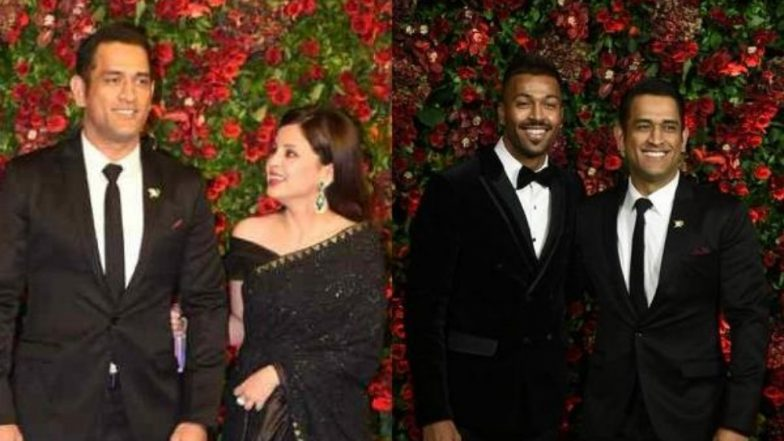 Sakshi 'Ditches' MS Dhoni, Captain Cool Poses With Hardik Pandya During Deepika Padukone - Ranveer Singh Reception, Watch Video