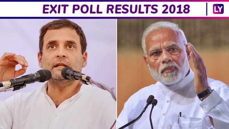 Exit Poll Results 2018: Poll Pundits Predict Congress to Win Rajasthan, Have Upper Hand in Madhya Pradesh And Chhattisgarh; TRS May Retain Telangana, Mixed Bag in Mizoram