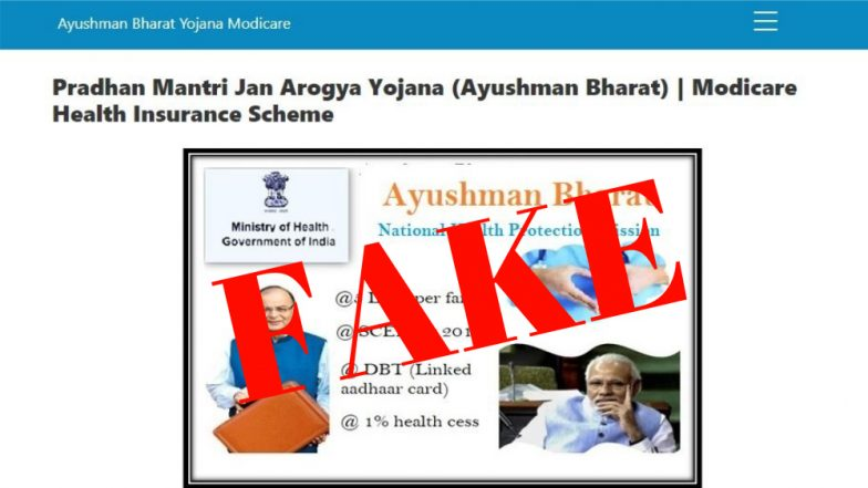 Indian Government Declares 58 Health Websites Claiming To Be Affiliated To Ayushman Bharat As Illegal; Here's The Full List