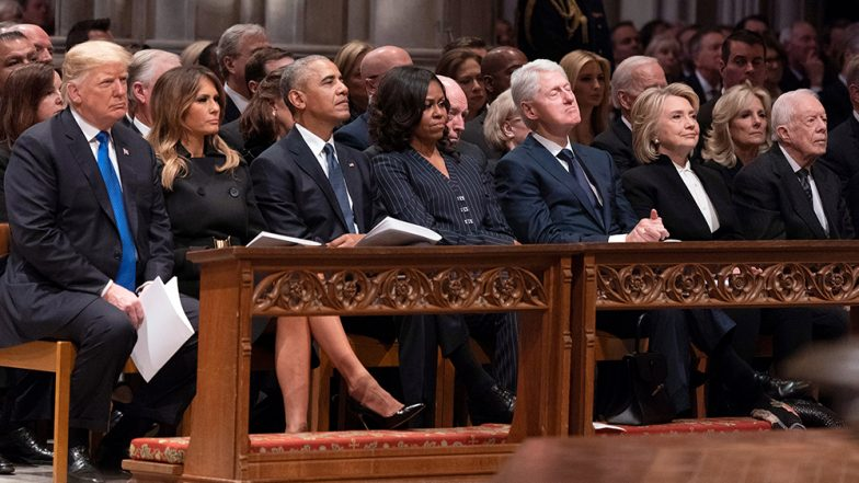 George H W Bush's Funeral Attended by All 5 Living US Presidents From Donald Trump to Jimmy Carter (See Pics)