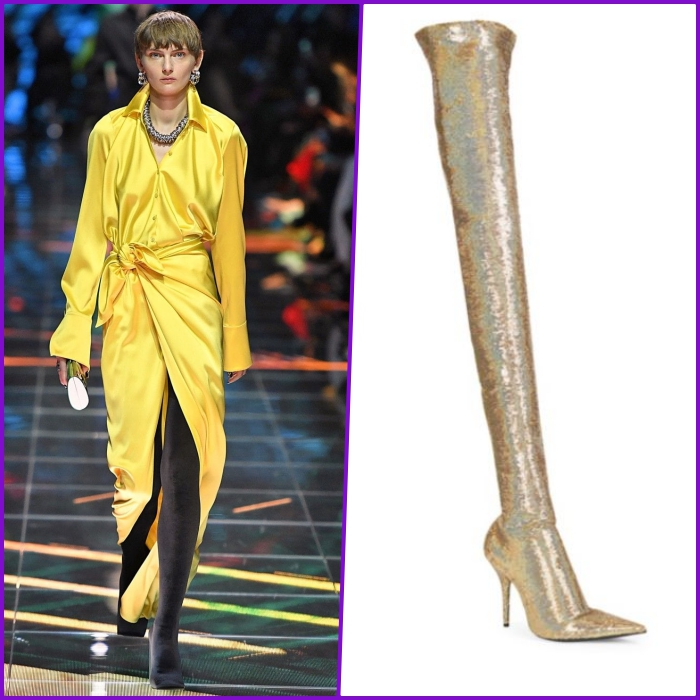Michelle Obama Steps Out In Thigh High Gold Balenciaga Boots And