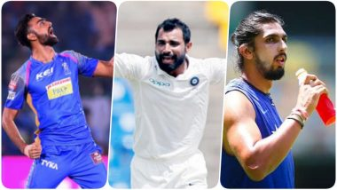 IPL 2019 Player Auction: Rajasthan Royals Buy Jaydev Unadkat Again for Rs 8.4 Crore; Mohammad Shami Sold to KXIP for Rs 4.8 crore, Ishant Sharma Goes for Rs 1.1 Crore to Delhi Capitals