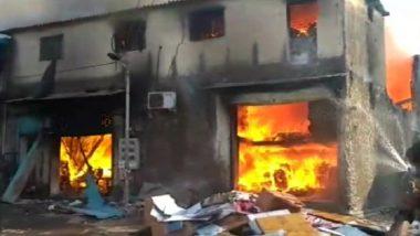 Mumbai Fire: Blaze Engulfs Cloth Factory in Kandivali, Four Fire Tenders at Spot