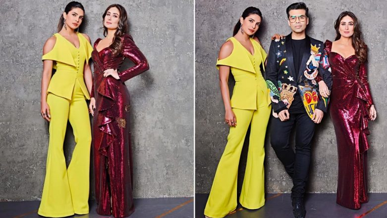 Priyanka Chopra and Kareena Kapoor Khan To Turn Up the Heat On Koffee With Karan 6 Finale! - See Pic