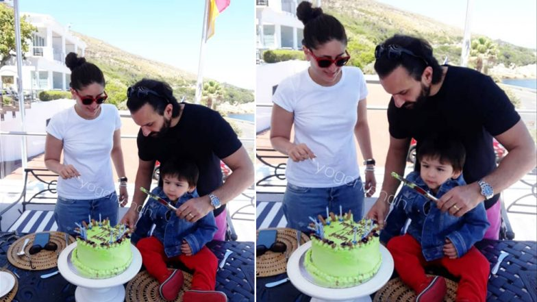 Taimur Ali Khan Gets Ready To Cut His Birthday Cake With Proud