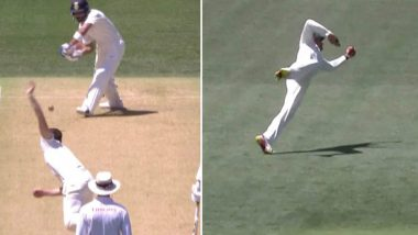 Virat Kohli's Fall of Wicket Video: Usman Khawaja Takes an Unbelievable Catch to Dismiss the Indian Captain During IND vs AUS 1st Test Day 1