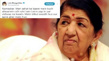 Lata Mangeshkar Clarifies Rumours Of Ill-Health; Assures Fans of Her Well-Being!