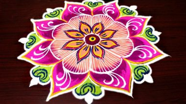 Margazhi Masam 2018–19 Rangoli Designs: Watch Videos of Colourful Kolams to Make During Tamil Margali Month