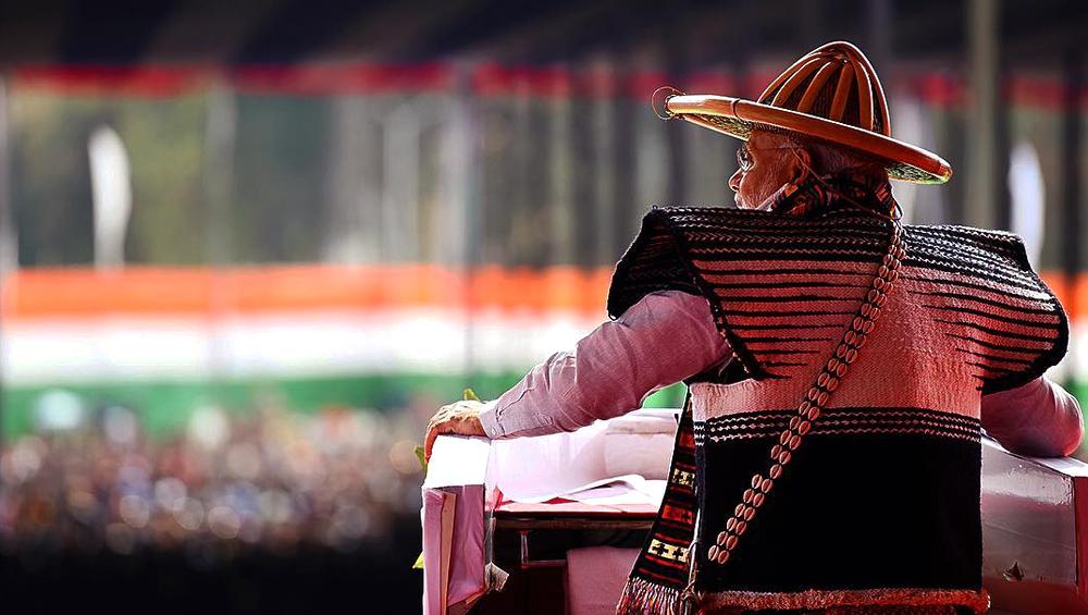 Prime Minister Narendra Modi during his visit in Arunachal Pradesh, India.